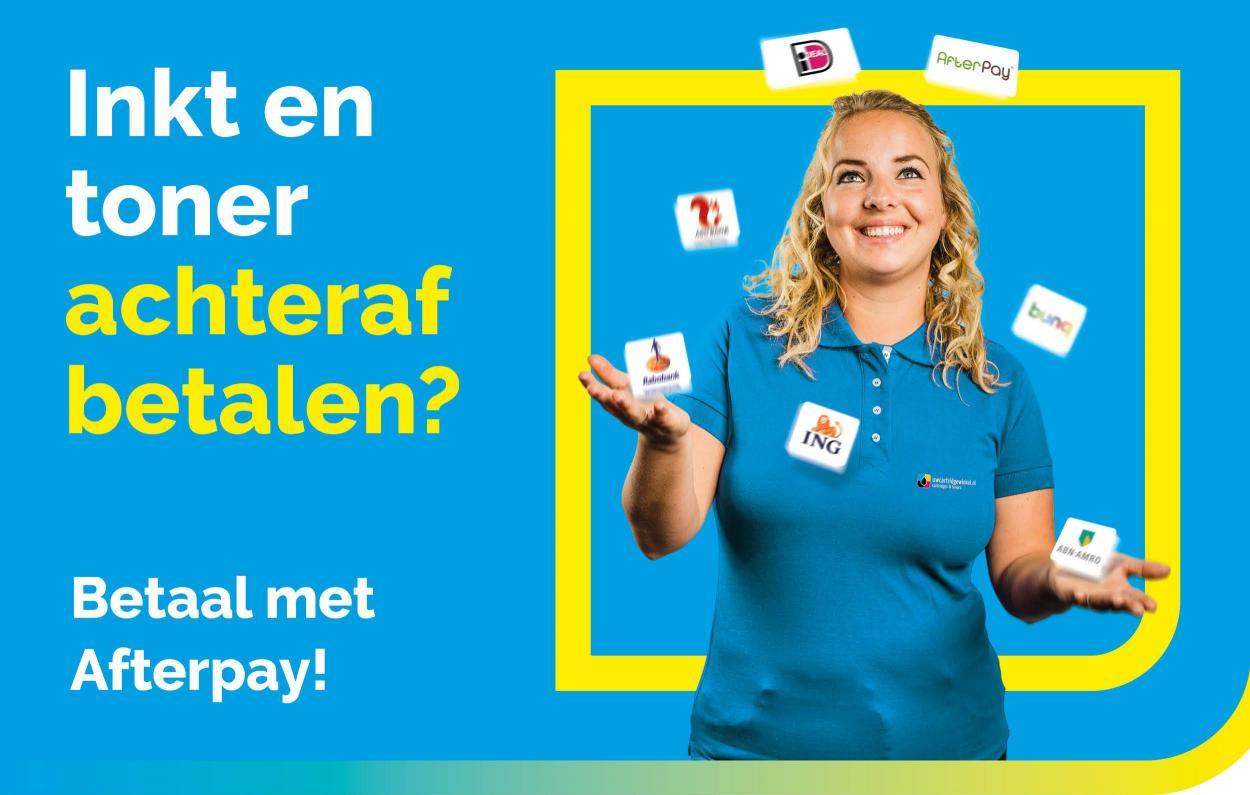 Achteraf betalen - UwCartridgeWinkel.nl