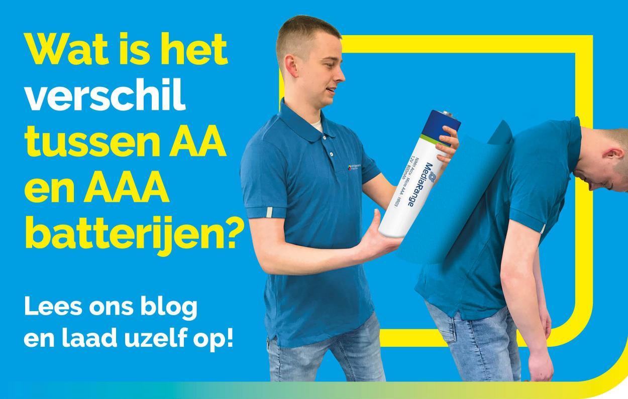 Verschil AA of AAA batterijen - UwCartridgeWinkel.nl