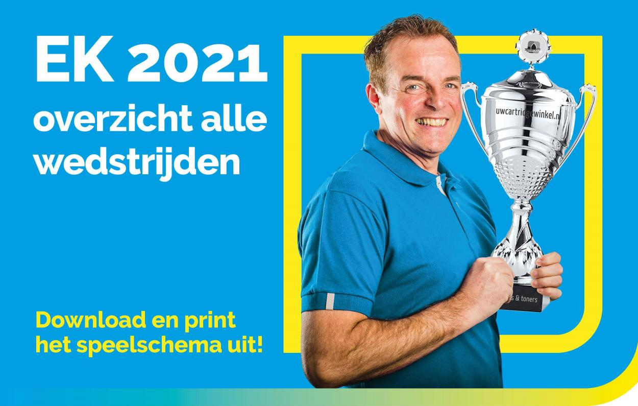 EK 2021 (2020) speelschema printen
