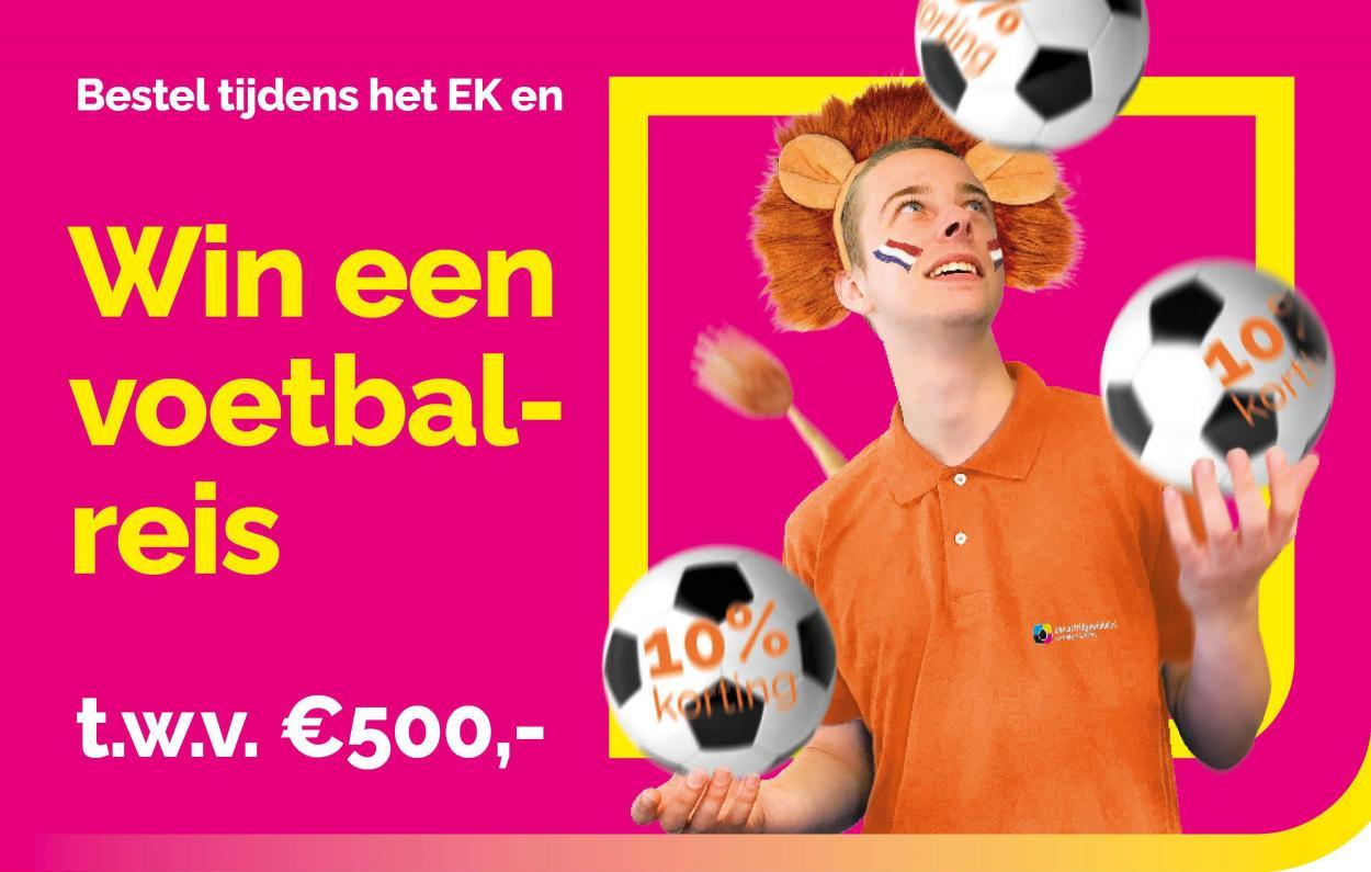 Win een voetbalreis t.w.v. €500,-
