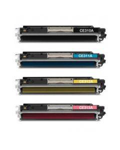 Huismerk HP 126A (CE310A-CE313A) multipack zwart + 3 kleuren