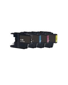 Huismerk Brother LC-1240 multipack zwart + 3 kleuren
