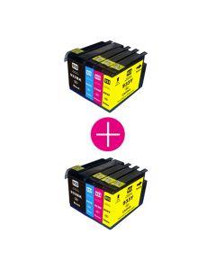 2 x Huismerk HP 932XL + HP 933XL multipack zwart + 3 kleuren incl. chip