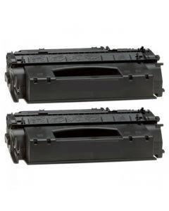 2 x Huismerk Canon 715H zwart