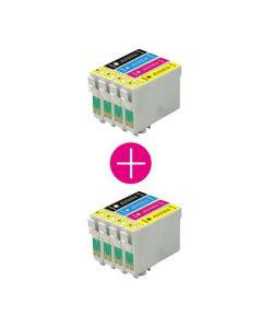 2 x Huismerk Epson T1295 multipack (zwart + 3 kleuren)