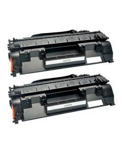 2 x Huismerk HP 05A (CE505A) zwart