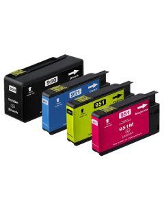 Huismerk HP 950XL + HP 951XL multipack zwart + 3 kleuren incl. chip