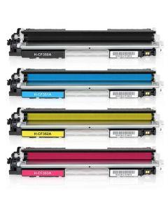 Huismerk HP 130A (CF350A-CF353A) multipack zwart + 3 kleuren