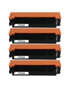 Huismerk HP 205A (CF530A-CF533A) multipack zwart + 3 kleuren