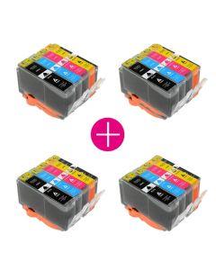 4 x Huismerk HP 364XL multipack (zwart + 3 kleuren)