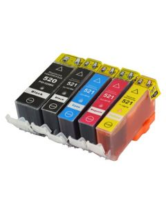 Huismerk Canon PGI-520 + CLI-521 multipack 2 x zwart + 3 kleuren incl. chip