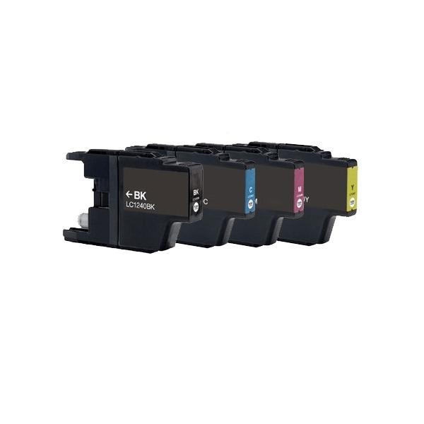 Huismerk Brother LC-1240 multipack (zwart + 3 kleuren)