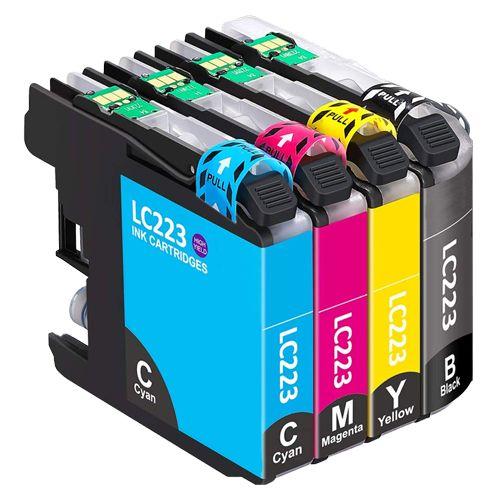 Huismerk Brother LC-223 multipack (zwart + 3 kleuren)