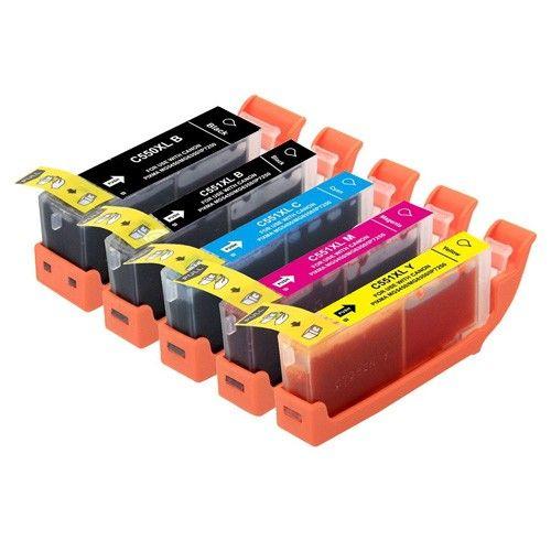 Huismerk Canon PGI-550 XL + CLI-551 XL multipack (2 x zwart + 3 kleuren)
