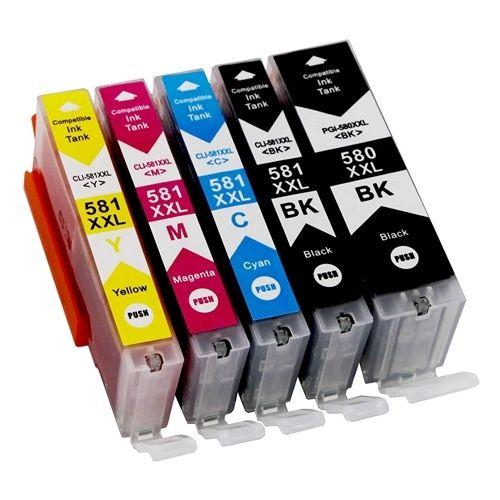 Huismerk Canon PGI-580 XXL + CLI-581 XXL multipack (2 x zwart + 3 kleuren)