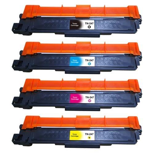 Huismerk Brother TN-247 multipack (zwart + 3 kleuren)