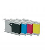 Huismerk Brother LC-970 multipack zwart + 3 kleuren
