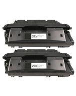 2 x Huismerk HP 27X (C4127X) zwart