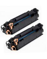 2 x Huismerk HP 85A (CE285A) zwart