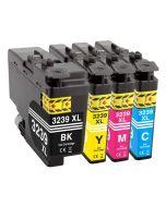 Huismerk Brother LC-3239XL multipack zwart + 3 kleuren