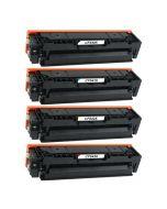 Huismerk HP 203X (CF540X-CF543X) multipack zwart + 3 kleuren