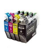 Huismerk Brother LC-3213XL multipack zwart + 3 kleuren