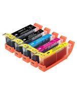 Huismerk Canon PGI-550 XL + CLI-551 XL multipack 2 x zwart + 3 kleuren incl. chip