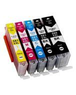 Huismerk Canon PGI-580 XXL + CLI-581 XXL multipack 2 x zwart + 3 kleuren incl. chip
