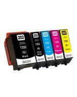 Huismerk Epson 202XL multipack 2 x zwart + 3 kleuren incl. chip