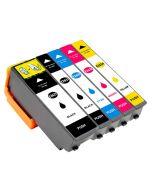 Huismerk Epson 26XL (T2636) multipack 2 x zwart + 3 kleuren incl. chip
