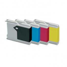 Huismerk Brother LC-1000 multipack zwart + 3 kleuren